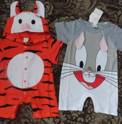 Cotton overalls from 3 to 12 months