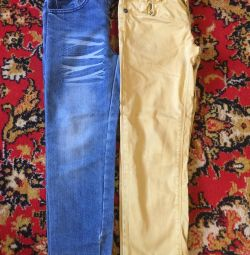 Jeans for 122-128 height