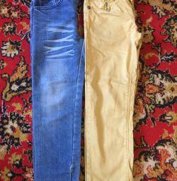 Jeans pentru înălțime 122-128