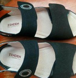 Pantofi din piele de vară
