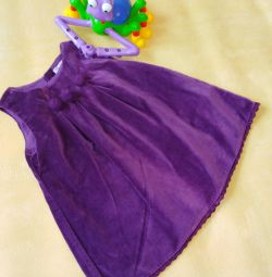 Платье бархатное 80см