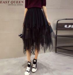 Новая! многослойная сетчатая юбка