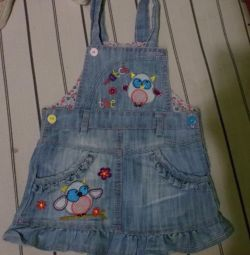 jeans dress, choir comp., for 1 year. 100rub