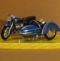 Коллекционная машина мотоцикл с коляской BMV