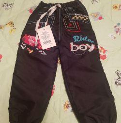 Pantaloni caldați de mărimea 92