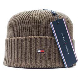 Men's hat TOMMY HILFIGER (tobacco)