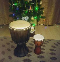 Барабани Джембе африканські діам.25і14см