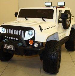 Дитячий електромобіль Jeep Wrangler 4Х4 О999ОО