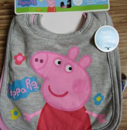 Bib pig Pepa 3pcs in a set