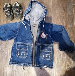 Jacket jeans for the boy + sneakers