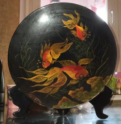 Decorative plate. Pano. Hand painted. China