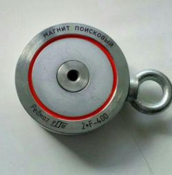 Поисковый двухсторонний магнит F-400х2+ (Калуга)