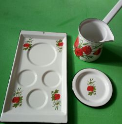 Enameled coffee set for the USSR