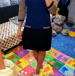 Dress of thin knitting 42p