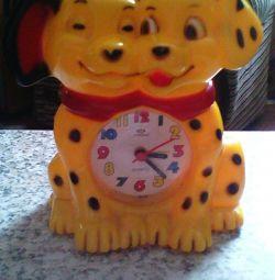 Desktop clock for children Dalmatians