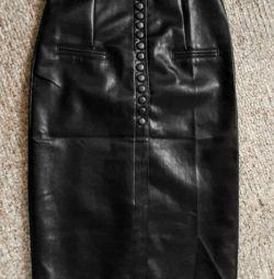 Skirt eco-leather