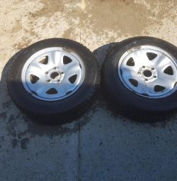 Wheels with rubber