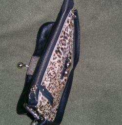 Вечерняя сумочка леопардовая