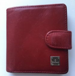 Red purse made from genuine leather Gillian