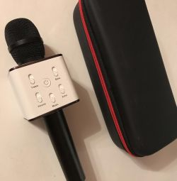 Wireless karaoke microphone speaker.