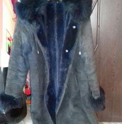 Winter sheepskin coat