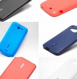 HTC için silikon kiraz HTC E9 Plus, HTC kapakları