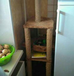 Этажный домик для кошки