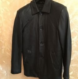 Jacket leather jacket 46-48 size with a heater
