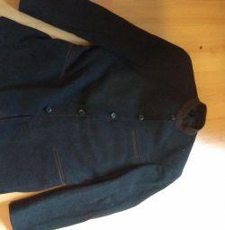 Теплый стильный пиджак мужской