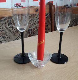 γυαλιά και κερί
