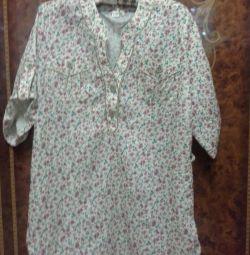 Рубашка женская, блузка( блузон ) L