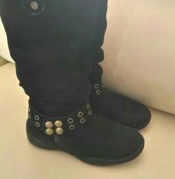 Şık süet botlar 19 cm