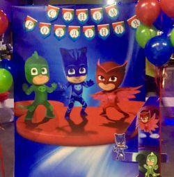 Banner de eroi mascați