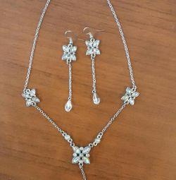 Κοσμήματα κολιέ και σκουλαρίκια