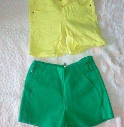 2 pairs of shorts 250₽