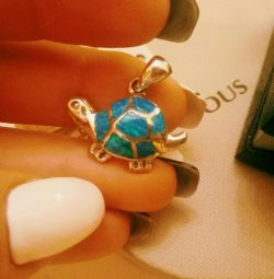 Turtle 925 sterling silver Italy new ??
