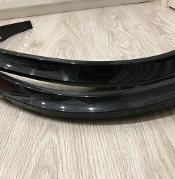 Оригинальный подкрылок BMW X5 - 4 шт., цвет черный