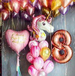 Fotoğraf bölgesi hava helyum balonları