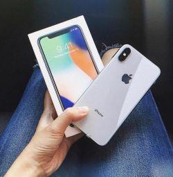 Νέο iPhone X (256gb), λευκό 🔥