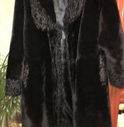 Palton de blană Mouton cu ghearele