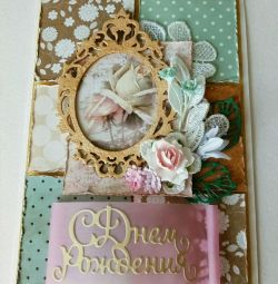 Handmade greeting card ,, Happy Birthday! ,,