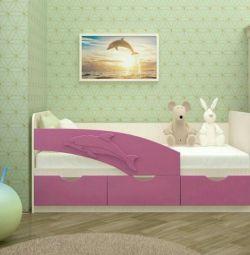 Ліжко Дельфін фіолетовий