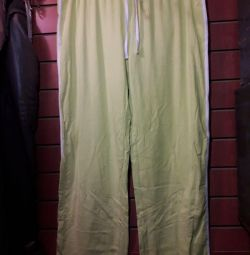 Sports trousers with drawstrings
