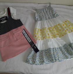 3 ayarlayın. Yazlık elbise 2 adet