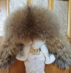 Hat with ear-flaps (adjustable) natures fur and skin
