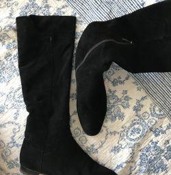 Μπότες φυσικό σουέτ / γούνα Calipso