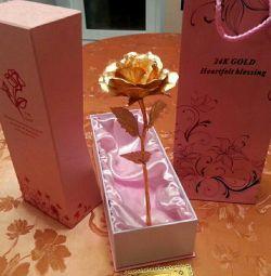Trandafir auriu 24K AUR