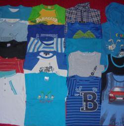 Ένα σύνολο ρούχων για το καλοκαίρι ή σε παιδιά. κήπο σε 98-110cm