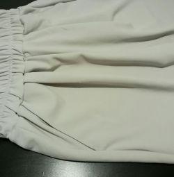 Pantaloni kyuloti culoare gri deschis 44 vara