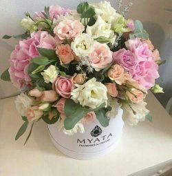 Bir kutuda çiçekler, 14 Şubat için çiçekler